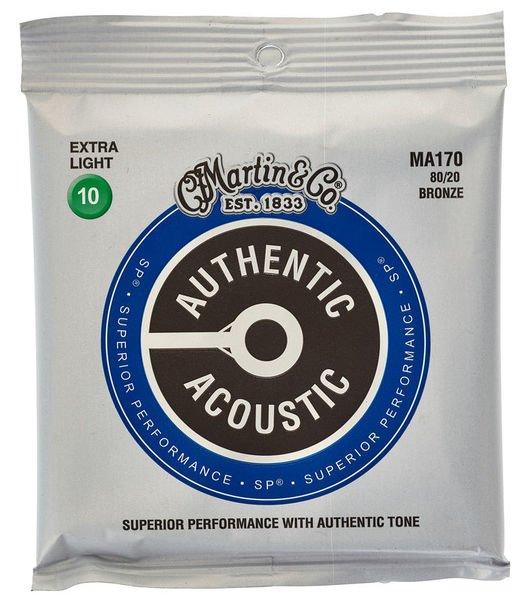 Martin MA170 Authentic Acoustic - SP - 80/20 Bronze Custom Light ( 10-47 )