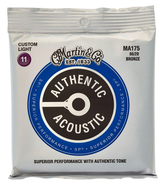 Martin MA175 Authentic Acoustic - SP - 80/20 Bronze Custom Light ( 11-52 )