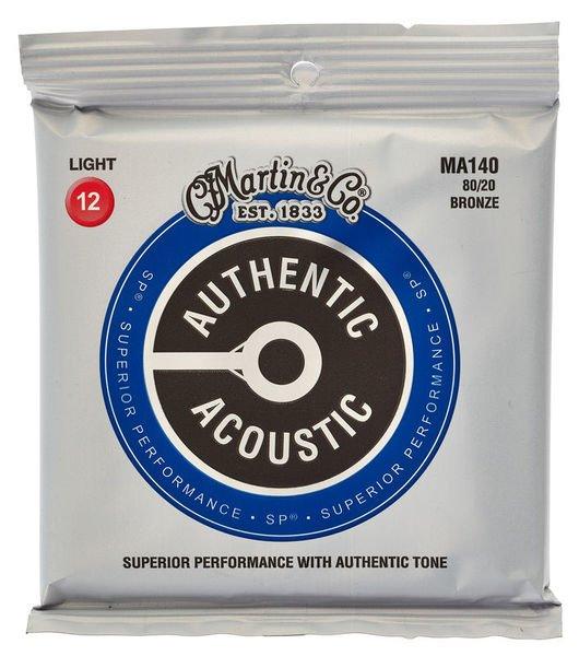 Martin MA140 Authentic Acoustic - SP - 80/20 Bronze Light ( 12-54 )