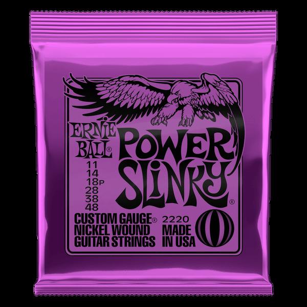 Ernie Ball Power Slinky Nickel Wound Electric Guitar Strings - 11-48
