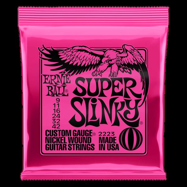 Ernie Ball Super Slinky Nickel Wound Electric Guitar Strings - 9-42