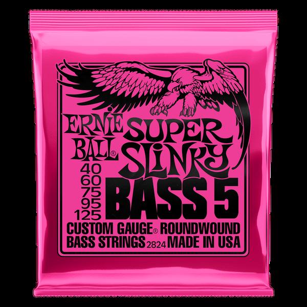 Ernie Ball Super Slinky 5-String Nickel Wound Electric Bass String - 40-125
