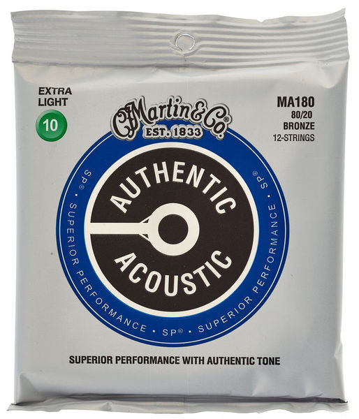 Martin MA180 Authentic Acoustic - SP - 80/20 Bronze 12 String Extra Light ( 10-47 )